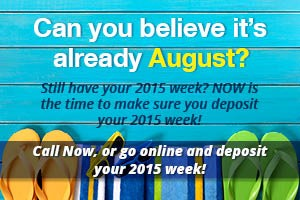 Deposit Your 2015 Usage Now!