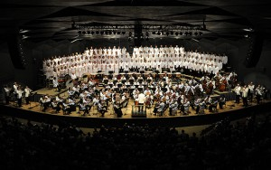 Boston Symphony Orchestra and Tanglewood Festival Chorus performing Berlioz's Requim at Tanglewood conducted by Charles Dutoit on 7.9.11 (Stu Rosner)