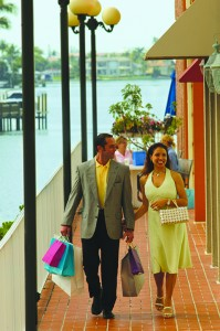 Visitors enjoy shopping at The Village on Venetian Bay in Naples.