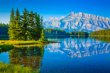 Two Jack Lake & Mt. Rundle, Banff National Park, Alberta, Canada