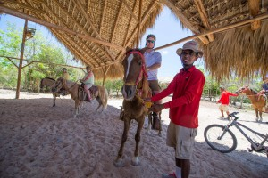 Horseback riding at Bavaro Adventure Park.