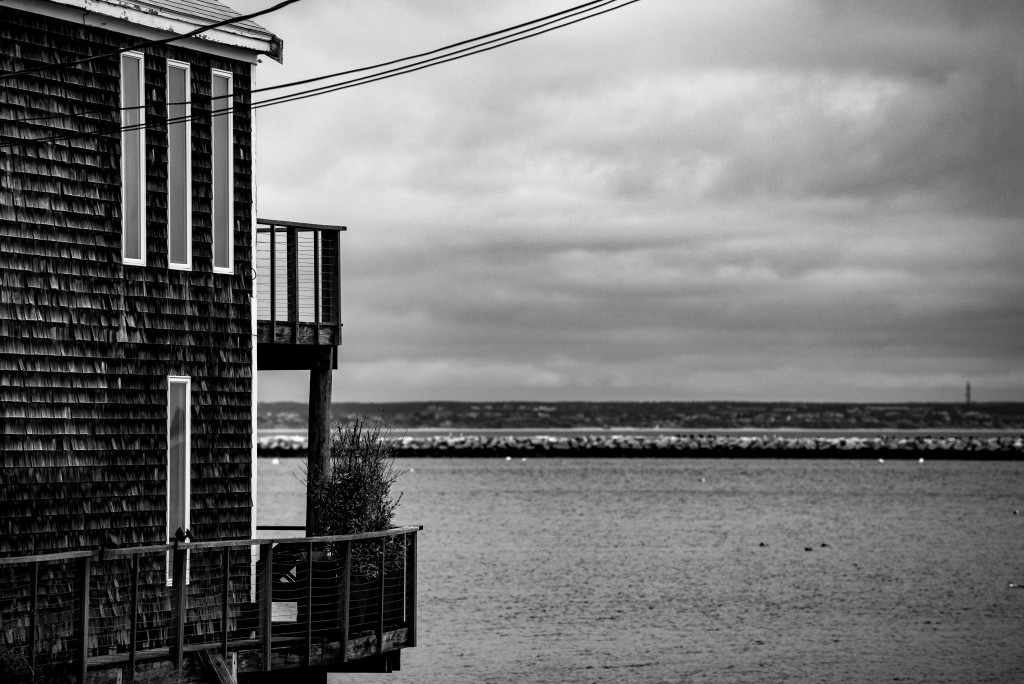 The view toward the water in Provincetown, on the north end of the Cape.