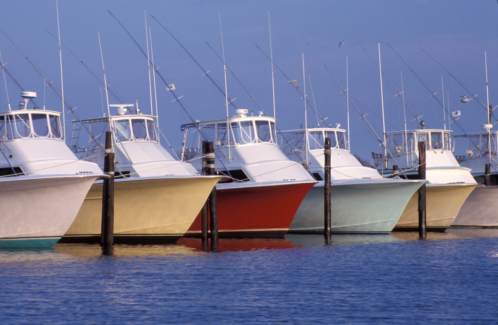colorful outer banks fishing boats
