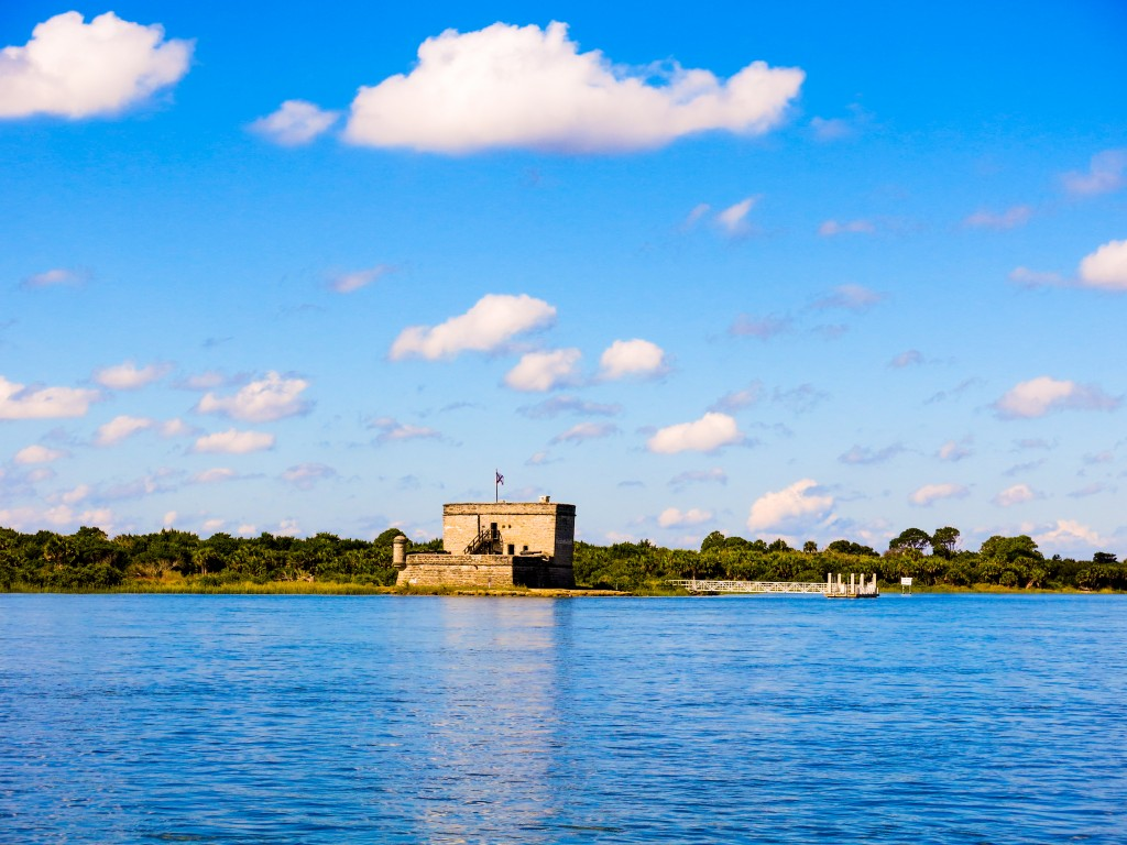 A view out over the intracostal waterway of Fort Matanzas outside St. Augustine, FL.