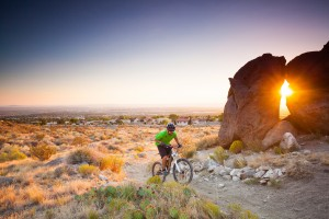 mountain biking sunshine landscape