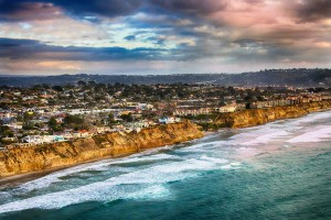 Coastal Cliffs of Solana Beach, San Diego California