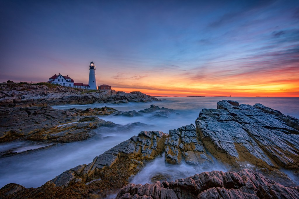 Dawn at Portland Head Lighthouse