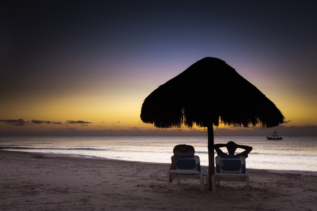 Romantic Vacation with Sunrise in Playa del Carmen Riviera Maya