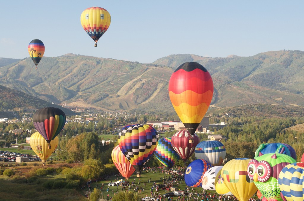 Autumn Aloft Hot Air Balloon Festival Park City Utah