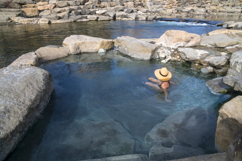 Hot spring river pool