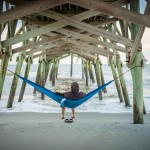 Hanging out under the Surfside Beach pier.