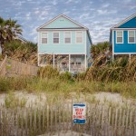 Wonderful beach houses dot Surfside Beach.